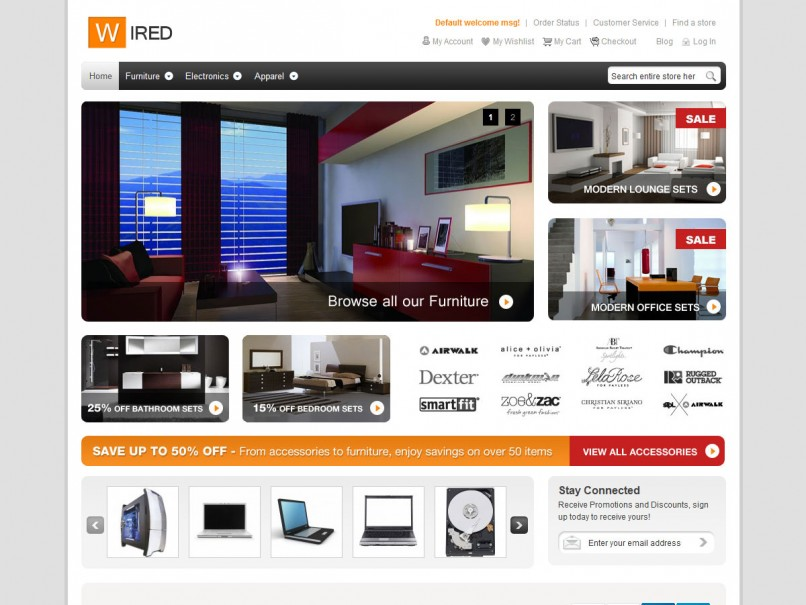 Hellowired free magento theme with hellowired a free magento theme you will take your store to the next level this is a great free responsive magento theme pronofoot35fo Gallery